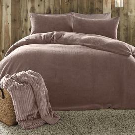 image-Lunz Duvet Cover set Ebern Designs Colour: Blush, Size: Single - 1 Standard Pillowcase