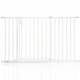 image-Bella Vista Pressure Mounted Pet Gate Archie & Oscar Colour: White, Size: 116cm-122cm