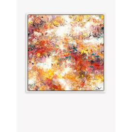 image-Maria Esmar - 'Bright Side' Framed Canvas Print, 84.5 x 84.5cm, Orange/Multi