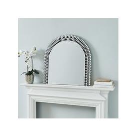 image-Glam Gem Edge Over Mantle Mirror 70cm Silver