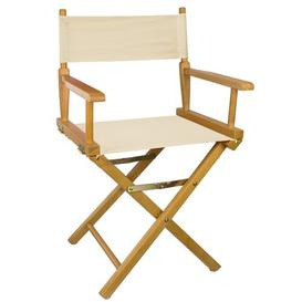 image-Lydell Folding Director Chair Sol 72 Outdoor Colour (Fabric): Natural, Colour (Frame): Teak