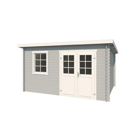 image-14 x 11 Ft. Tongue & Groove Summer House Sol 72 Outdoor Colour: Light Grey, Wall Thickness: 2.8cm