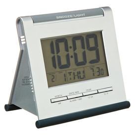 image-Acctim Apex Smartlite LCD Digital Alarm Clock, Silver