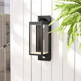 image-Clairette LED Outdoor Wall Lantern with Motion Sensor Lucide