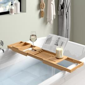 image-Extendable Bamboo Bath Rack Wayfair BasicsΓäó