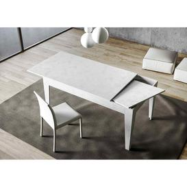 image-Extendable Table Brushed White 120 Extended 180