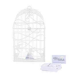 image-Decorative Bird House Weddingstar Finish: White