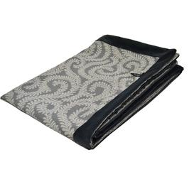 image-Little Leaf Charcoal Grey Throws & Runners, Extra Large (200cm x 254cm)