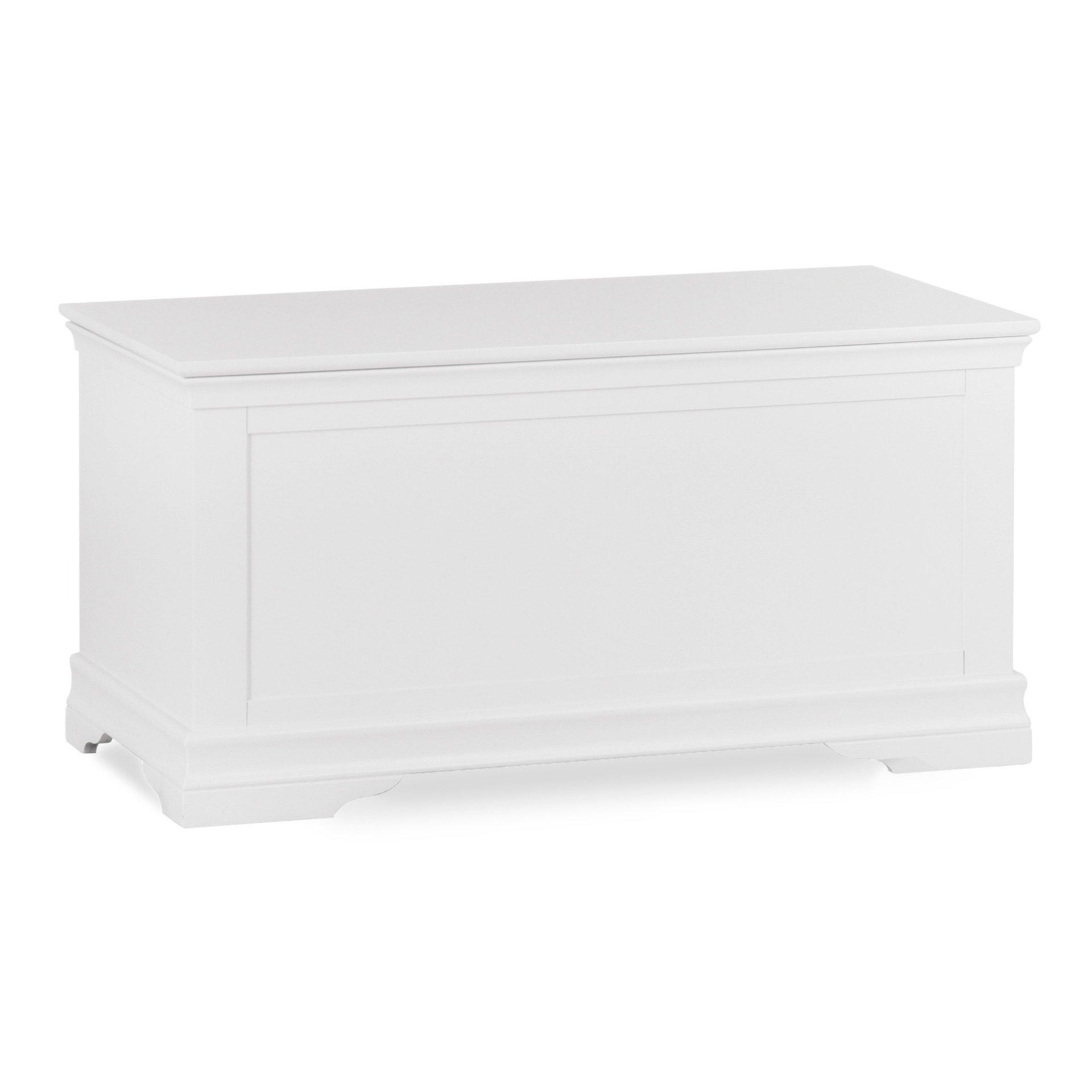 image-Brooklyn White Blanket Box