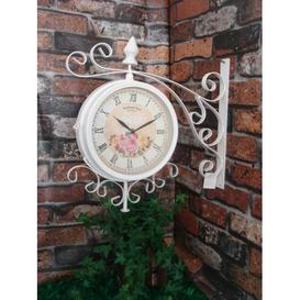 image-England Metal Bracket Wall Clock Lily Manor