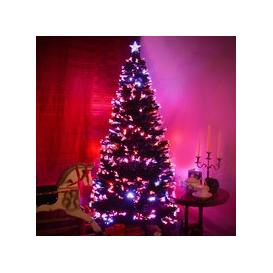 image-Fibre Optic Green Christmas Tree with Multi Coloured Fibre Optic Lights and Red Berries  - 2ft, 3ft, 4ft, 5ft, 6ft [2ft / 60cm PRE-ORDER]
