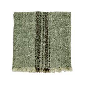 image-Sage Green Striped Tea Towel