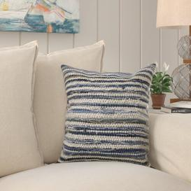 image-Upcycled Denim Indoor Cushion Cover Beachcrest Home