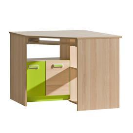 image-Talia 96.5cm W Computer Desk Isabelle & Max Colour/Finish: Beige/Green