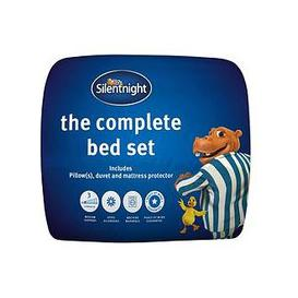 image-Silentnight Complete Bed Set - Includes 10.5 Tog Duvet, Mattress Protector And Pillow(S)