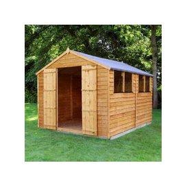 image-Mercia Overlap Apex Garden Shed - Double Door (10' x 8')