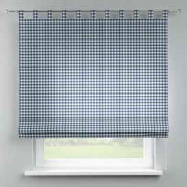 image-Quadro Blackout Roman Blind Dekoria Size: 100cm W x 170cm L, Finish: Navy Blue/Ecru
