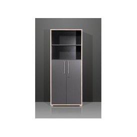 image-Duo 2 Door Lockable Anthracite Filing Cabinet