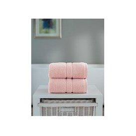image-The Lyndon Co Chelsea Super Soft 600 Gsm Zero Twist Bath Sheet - Pink