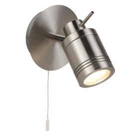 image-Searchlight 6601SS Samson One Light Wall Spotlight In Satin Silver