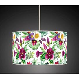 image-Polyester Drum Shade Bay Isle Home Colour: White/Green, Size: 26cm H x 45cm W x 45cm D, Type: Ceiling/Wall