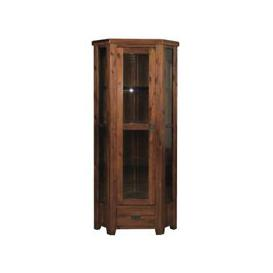 image-Ross Wooden Corner Display Cabinet In Acacia Finish