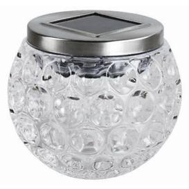 image-Medrano White 9Cm Solar Powered Integrated LED Outdoor Lantern