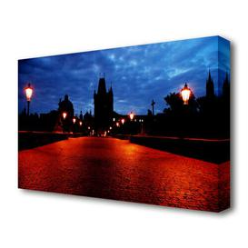 image-'Prague Night Lights' Photograph on Wrapped Canvas East Urban Home Size: 81.3 cm H x 121.9 cm W