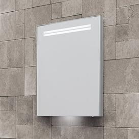 image-Sharleen 50cm x 70cm Recessed Mirror Cabinet with LED Lighting Belfry Bathroom