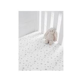 image-Silentnight Jersey Printed Stars Fitted Cot Sheets - 2 Pack