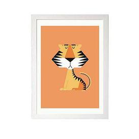 image-East End Prints Tiger By I Ended Up Here A3 Framed Print