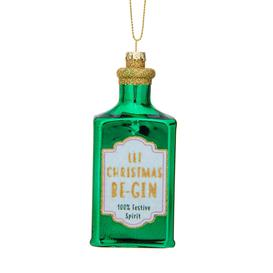 image-Sass & Belle Let Christmas Be-gin Shaped Bauble