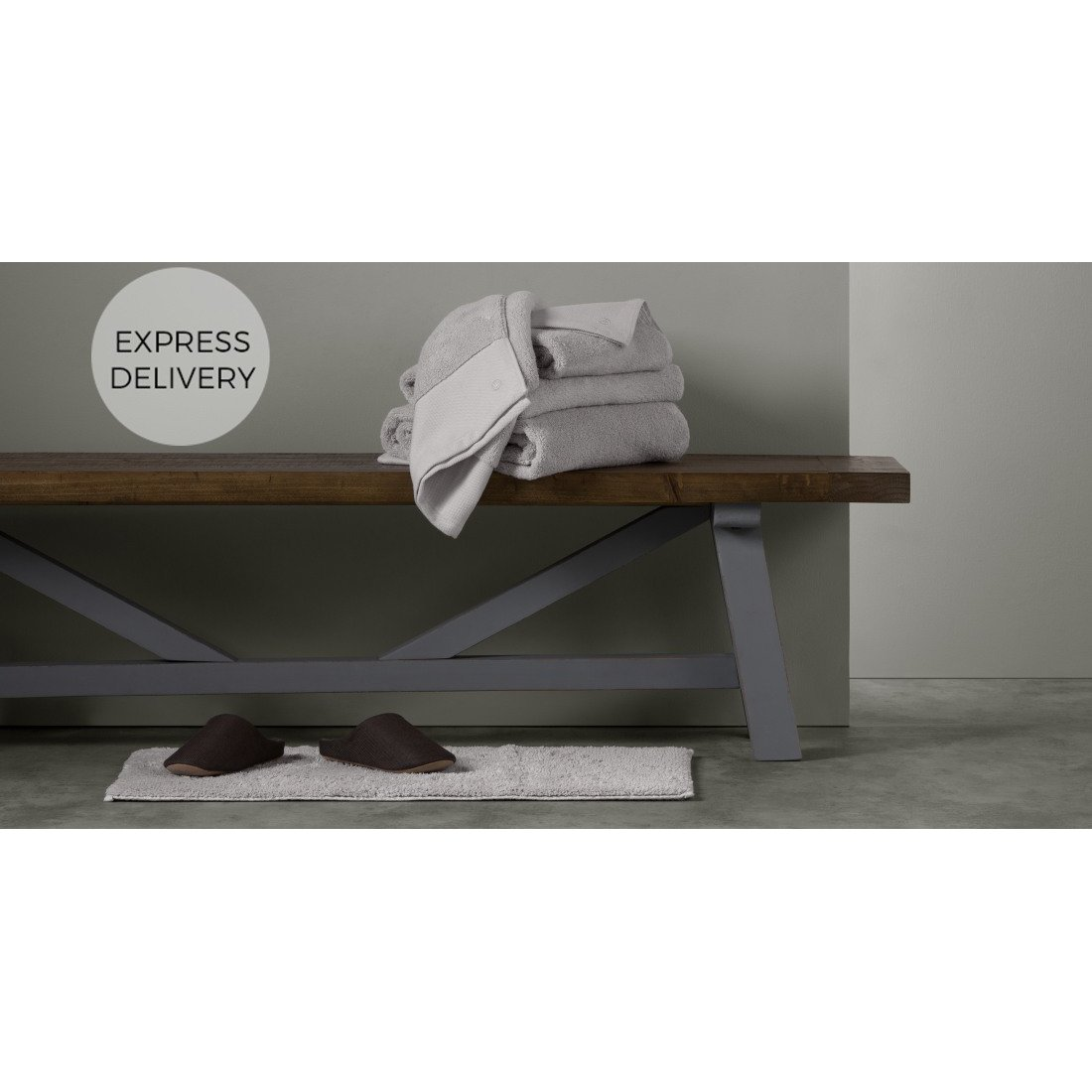 image-Aire Set of 4 Towels, Silver Grey