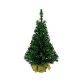 image-Everlands Imperial Mini Artificial Christmas Tree in Jute Bag