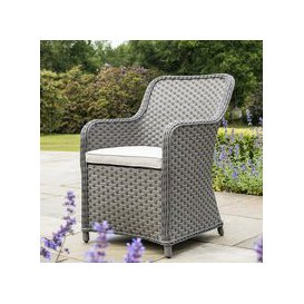 image-Bracken Outdoors Windsor 6 Seater Weave Armchair Oval Set - Slate