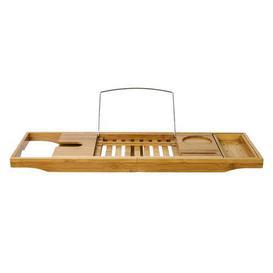 image-Elements Bamboo Extendable Bath Rack Natural