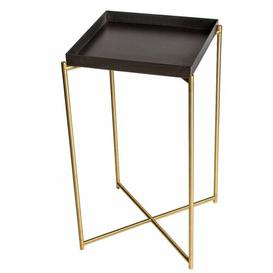 image-Bedell Pedestal Plant Stand Ebern Designs Top Colour: Brass, Base Colour: Brass