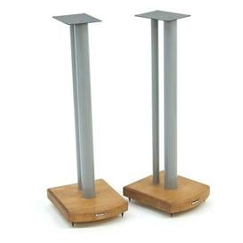 image-70cm Fixed Height Speaker Stand Symple Stuff Finish: Silver/Medium Bamboo