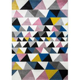 image-Pink/Blue/Black Area Rug Art for kids Rug Size: Rectangle 120 x 170cm