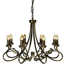 image-Ballyrashane 8-Light Candle-Style Chandelier Astoria Grand Finish: Black/Gold