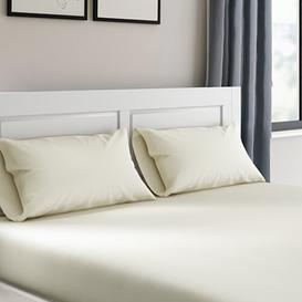 image-Roxie 180 Thread Count Fitted Valance Sheet Zipcode Design Colour: Ivory, Size: Kingsize (5')