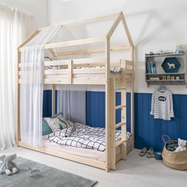 image-Ingvar Treehouse Loft Bunk Bed in Natural Pine