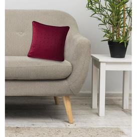 image-Scheider Madison Cushion with Filling Canora Grey Size: 55 x 55cm , Colour: Red