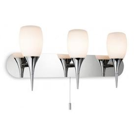 image-Firstlight 8642 Robano 3 Light Wall Light In Chrome With Opal Glass