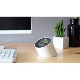 image-Modern Digital Electric Alarm Tabletop Clock Symple Stuff Finish: White