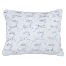 image-Wonderland Christmas Reindeer Cushion White