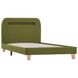 image-Pihu European Single (90 x 200cm) Upholstered Bed Frame Ebern Designs Colour: Green