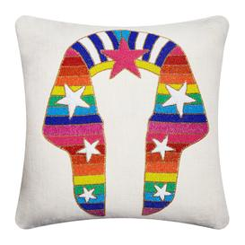 image-Jonathan Adler - Sphinx Beaded Cushion - 50x50cm