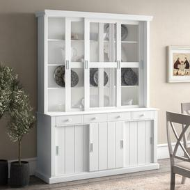 image-Daphne China Cabinet Beachcrest Home Colour: White and grey finish