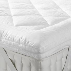 image-John Lewis & Partners Synthetic Soft Touch Washable Dual Layer 6cm Deep Mattress Topper